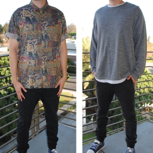 Left: Tori Richard Shirt Right: Sasch Sweater